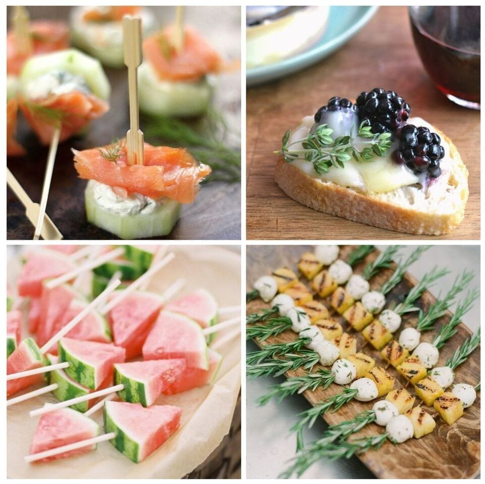 Sunday inspiration 20 appetizers you must have at your for Wedding canape ideas
