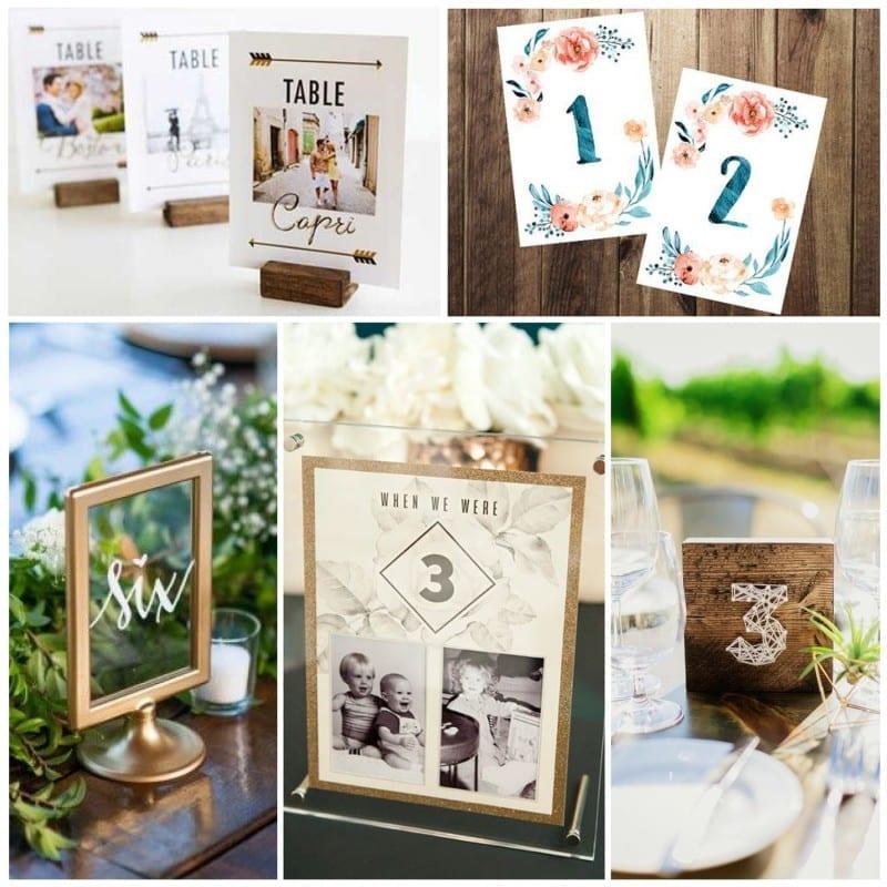 Sunday Inspiration: 26 Table Sign Ideas