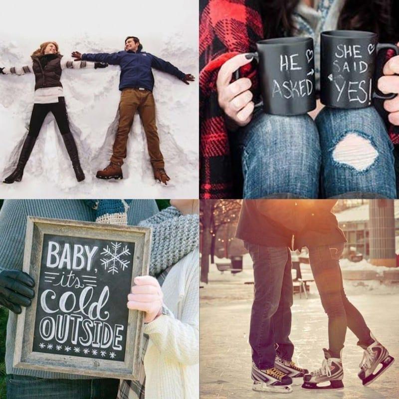 Sunday inspiration: 20 winter engagement photoshoot ideas